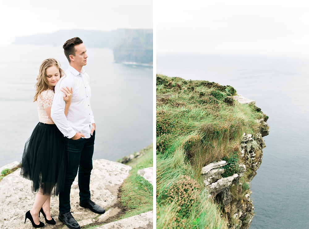 cliffs of moher, ireland, anniversary session, studio brown, fine art marriage