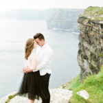 cliffs of moher, ireland, anniversary session, claire brown photography, fine art marriage