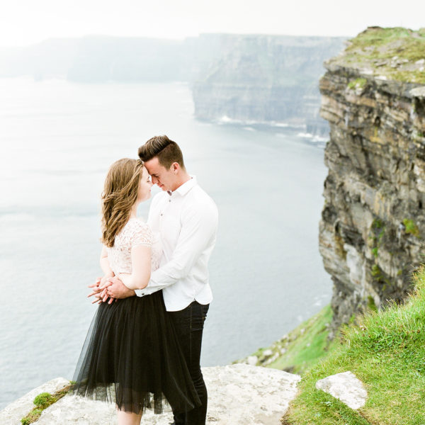 a cliffs of moher, ireland anniversary session