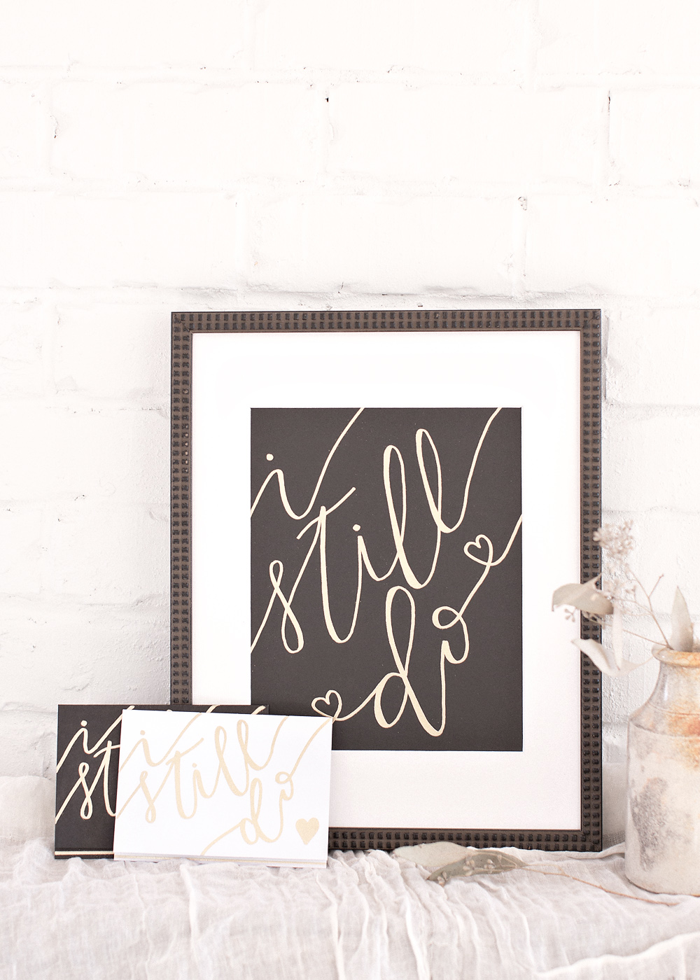Fine Art Marriage, I Still Do Project, Kel and Mel, Handlettered Art